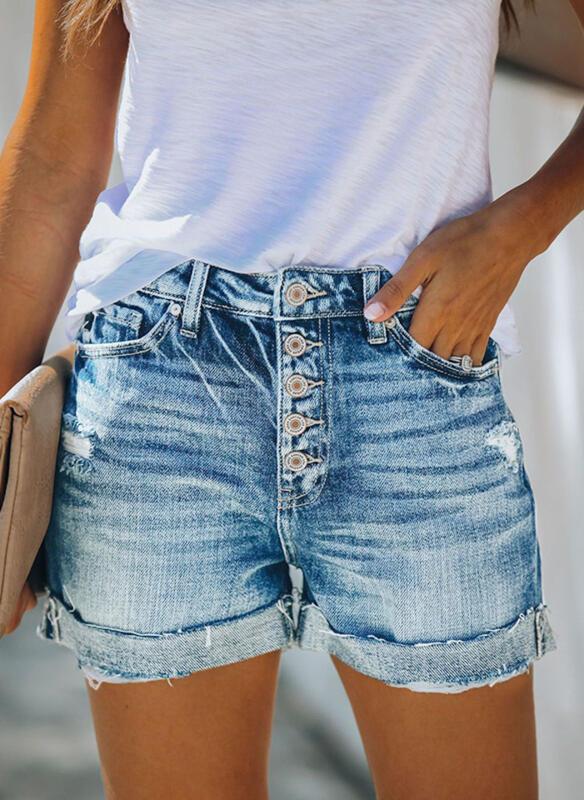 Taschen Shirred Übergröße Lässige Kleidung Sexy Baumwollstoff Kurze Hose