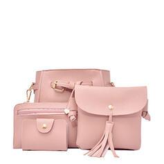 Litschi-Muster/Einfarbig/Böhmischer Stil/Multifunktional/Super bequem Handtaschen/Umhängetaschen/Schultertaschen/Tasche Sets/Hobo-Taschen