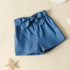 Mädchen Bowknot Einfarbig Hosen