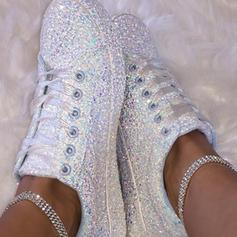 Frauen PU Lässige Kleidung Outdoor mit Pailletten Zuschnüren Schuhe