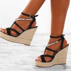 PU Keil Absatz Sandalen Plateauschuh Keile Peep Toe mit Andere Schuhe