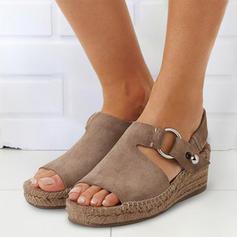 Frauen PU Keil Absatz Sandalen Keile Peep Toe mit Andere Schuhe