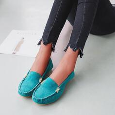 Frauen Stoff Flascher Absatz Flache Schuhe mit Perlstickerei Einfarbig Schuhe