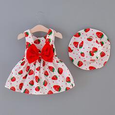 2 Stücke Baby Mädchen Bowknot Tupfen Druck Baumwolle Stellen Sie Größe
