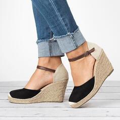 Frauen PU Keil Absatz Absatzschuhe mit Schnalle Schuhe