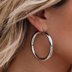 Modisch Klassische Art Einfache Legierung mit Minimalistisch Kreis Dekor Frauen Ohrringe 2 STÜCK