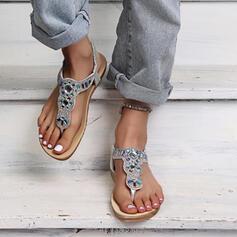 Frauen PU Flascher Absatz Sandalen Peep Toe Flip Flops Pantoffel mit Hohl-out Schuhe