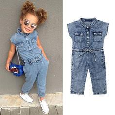Baby Mädchen Baumwollstoff Baumwolle Overall