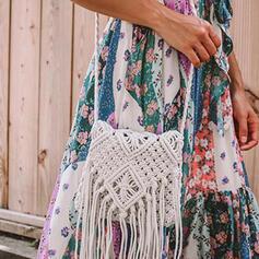 Einfarbig/Böhmischer Stil/Geflochten Umhängetaschen/Strandtaschen