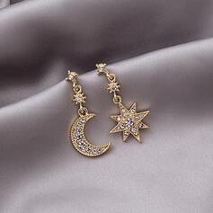 Sterne Legierung Strasssteine mit Star Frauen Ohrringe 2 STÜCK