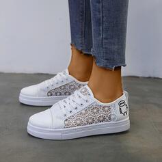 Frauen Kunstleder Mesh Lässige Kleidung Outdoor Schuhe