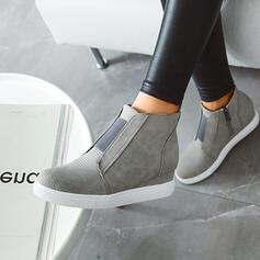 Frauen PU Lässige Kleidung Outdoor Sportlich mit Gummiband Schuhe