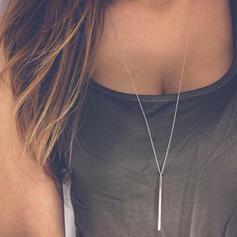 Klassische Art Einfache Legierung Frauen Halsketten