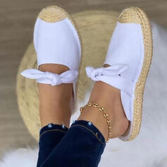Women's Leatherette Flat Heel Sandals Flats Slingbacks Slippers Round Toe With Bowknot Solid Color shoes