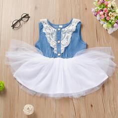 Mädchen Spitze Baumwollstoff Baumwolle Kleid