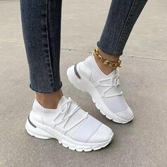 Frauen Fliegende Webart Flascher Absatz Flache Schuhe Round Toe mit Zuschnüren Schuhe