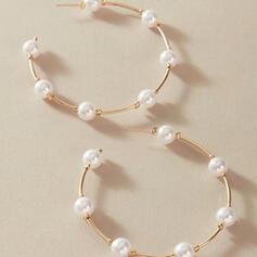 Stilvoll Legierung Faux-Perlen mit Nachahmungen von Perlen Frauen Ohrringe 2 STÜCK