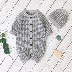 Baby Kariert Einfarbig Baumwolle Badeanzüge