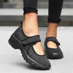 Frauen Fliegende Webart Flascher Absatz Flache Schuhe Round Toe Tanzschuhe Slipper & Slips mit Klettverschluss Einfarbig Schuhe