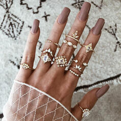 Einzigartig Exquisiten Stilvoll Legierung Schmuck Sets Ringe (Satz 12 Paare)