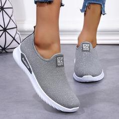 Frauen Stoff Mesh Flascher Absatz Flache Schuhe Round Toe Tanzschuhe Slipper & Slips mit Einfarbig Schuhe