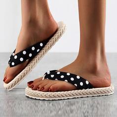 Frauen EVA Flascher Absatz Sandalen Flache Schuhe Peep Toe Flip Flops Pantoffel mit Hohl-out Punkt Schuhe