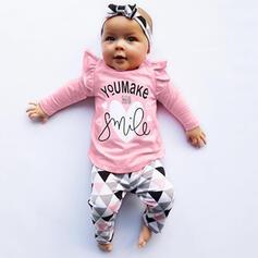 3 Stücke Baby Mädchen Buchstaben Druck Baumwolle Stellen Sie Größe
