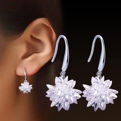 Einzigartig Legierung Kristall Damen Ohrringe