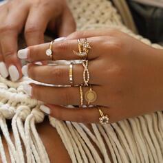 Exquisiten Jahrgang Legierung Ringe (Set aus 8)