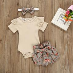 3 Stücke Baby Mädchen Bowknot Blumen Baumwolle Stellen Sie Größe