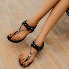 Frauen PU Keil Absatz Sandalen Keile Flip Flops mit Strass Schuhe