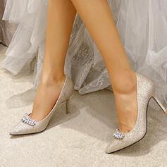 Frauen Funkelnde Glitzer Stöckel Absatz Absatzschuhe mit Strass Schuhe