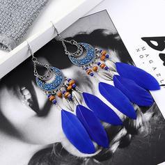 Exotisch Legierung Feder Frauen Ohrringe