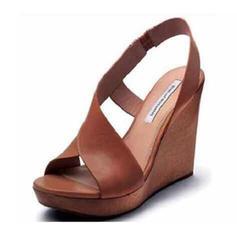 PU Keil Absatz Sandalen Keile mit Schnalle Schuhe