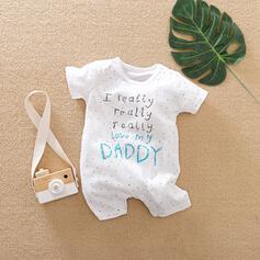 Baby Buchstaben Druck Baumwolle Badeanzüge