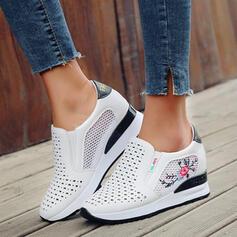 Frauen PU Andere Flache Schuhe Low Top Round Toe Schlüpfen mit Hohl-out Schuhe