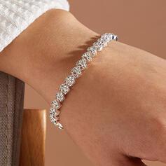 Glänzende Legierung Strasssteine mit Strasssteine Frauen Damen Armbänder