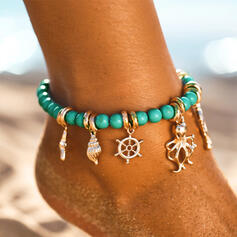 kühlen Boho Legierung Perlen Frauen Strandschmuck Fußkettchen