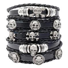 Gothic Horrifying Unique Halloween Skeleton Leather Halloween Props