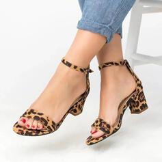 PU Stämmiger Absatz Sandalen Absatzschuhe Peep Toe Heels mit Andere Schuhe