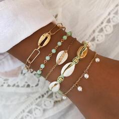 Stilvoll Attraktiv Legierung mit Nachahmungen von Perlen Schale Schmuck Sets Armbänder Strandschmuck (Satz von 5 Paaren)