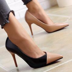 Women's PU Stiletto Heel Pumps With Splice Color Colorblock shoes
