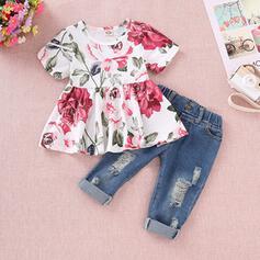 2-pieces Baby Girl Floral Cotton Set