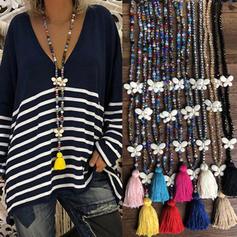Exquisiten Kristall mit Quasten Frauen Halsketten