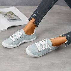 Frauen Leinwand Lässige Kleidung Outdoor mit Zuschnüren Schuhe