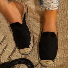 Frauen PU Flascher Absatz Sandalen Pantoffel mit Transparent Schuhe