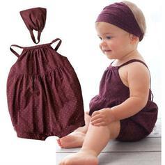 2-pieces Baby Girl Polka Dot Cotton Set