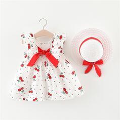2 Stücke Baby Mädchen Bowknot Druck Baumwolle Stellen Sie Größe