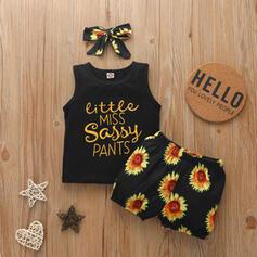 3 Stücke Baby Mädchen Buchstaben Blumen Druck Baumwolle Stellen Sie Größe