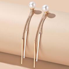 Glänzende Elegant Legierung Faux-Perlen mit Nachahmungen von Perlen Ohrringe 2 STÜCK